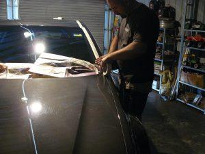Professional car detailers